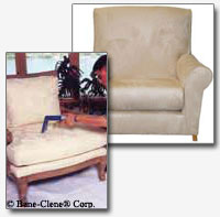 steam cleaning of furniture, drapes and upholstory